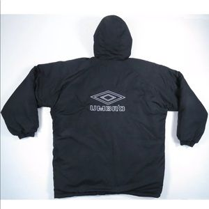 Umbro Reversible Insulated Hooded Puffer Jacket
